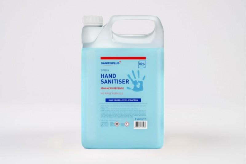 Sanitisplus 1 x 5ltr Spray Refill 80% Alcohol