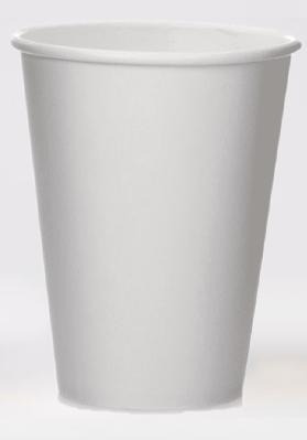 12oz Single Wall White Paper Cups 1x1000