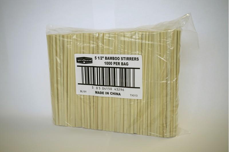 Bamboo Biodegradable Stirrers 5.5