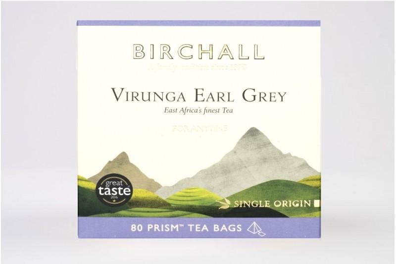 Birchall Virunga Earl Grey - 80 Prism Tea Bags