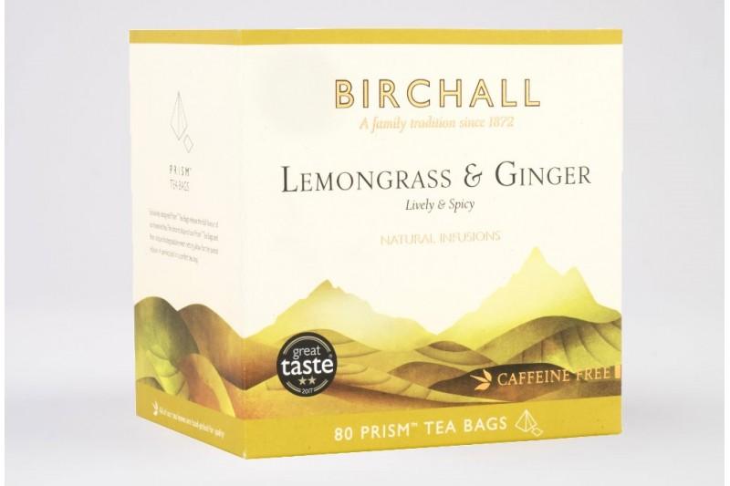 Birchall Lemongrass and Ginger - 80 Prism Tea Bags