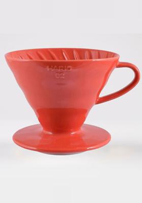 Hario Coffee Dripper Ceramic Red V60 02