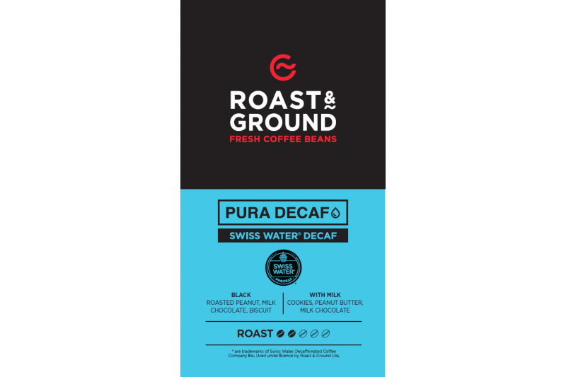 Pura Decaf Swiss Water Decaf Beans 1 x 250g