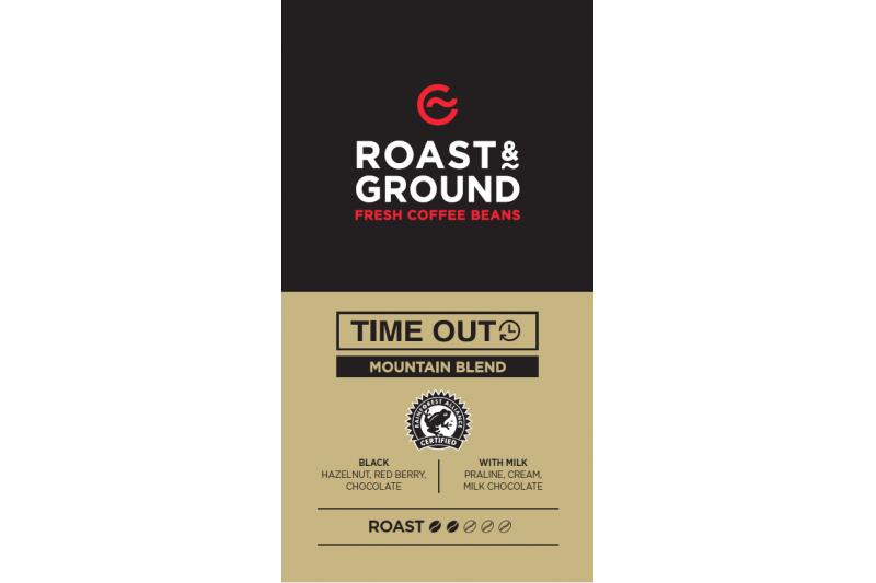Time Out Rainforest Alliance Mountain Blend Beans 12x500g