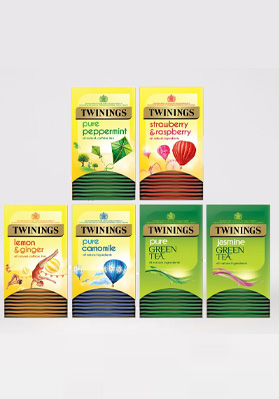 Twinings Fruit Herbal Green Variety Env Tea Bag 6x20