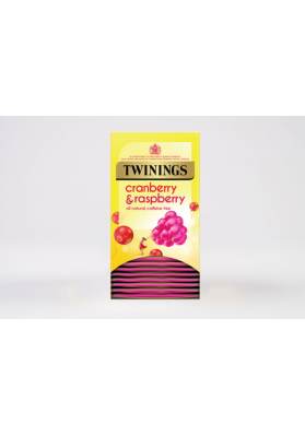 Twinings Cranberry and Raspberry Enveloped Tea Bags 1x20