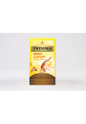 Twinings Lemon and Ginger Enveloped Tea Bags 1x20
