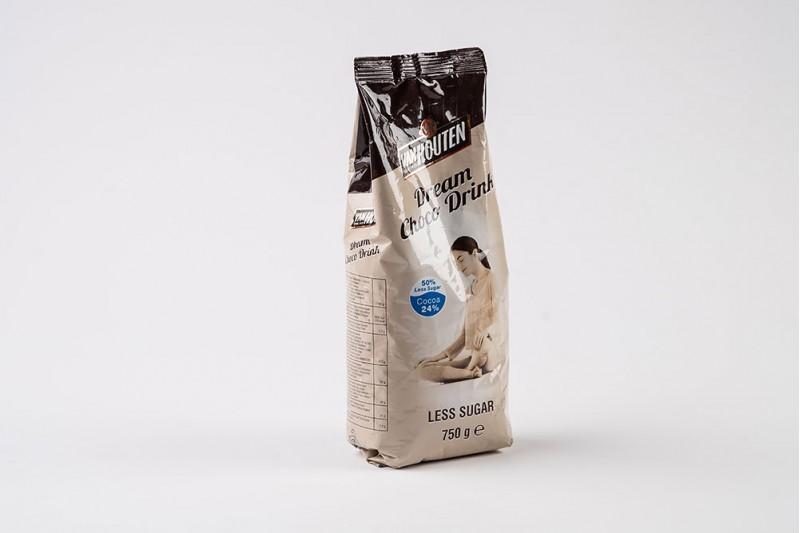 50% Less Sugar Dream Choc Van Houten Vending 10x750g