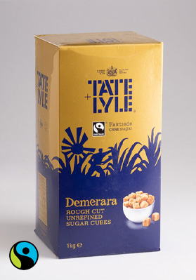 Tate & Lyle Demerara Rough Cut Sugar Cubes 1x1kg