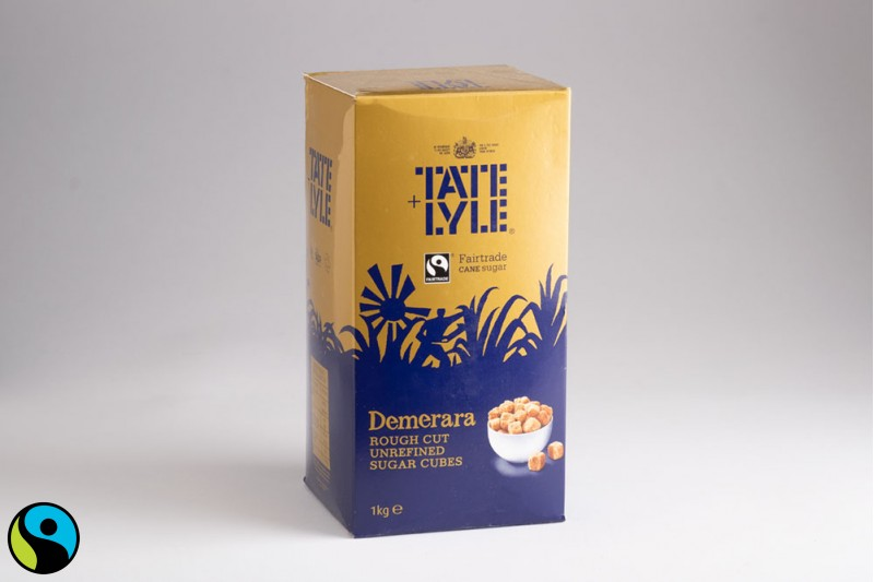 Tate and Lyle Demerara Rough Cut Sugar Cubes 1x1kg