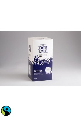 Tate & Lyle White Rough Cut Sugar Cubes 1x1kg