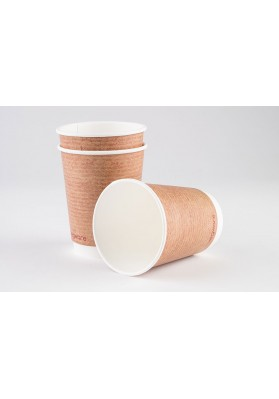 12oz Vegware Double Wall Brown Kraft Cup(VDW12)1x500