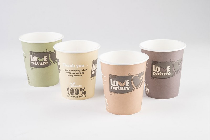 9oz LOVE Nature Compostable Cups 1x2000
