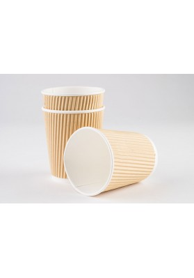 8oz Vegware Double Wall Brown Kraft Cup(VDW8)1x500