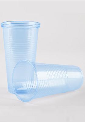 9oz (250ml) Blue Plastic Water Cups 1x1000
