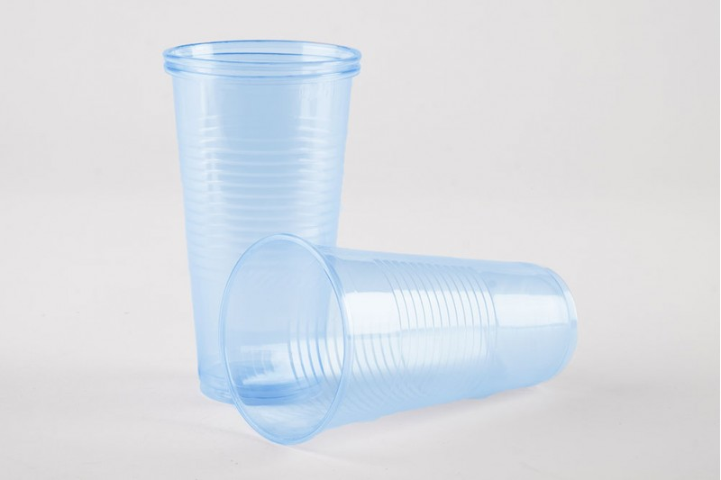 9oz (250ml) Blue Plastic Water Cups 1x1000