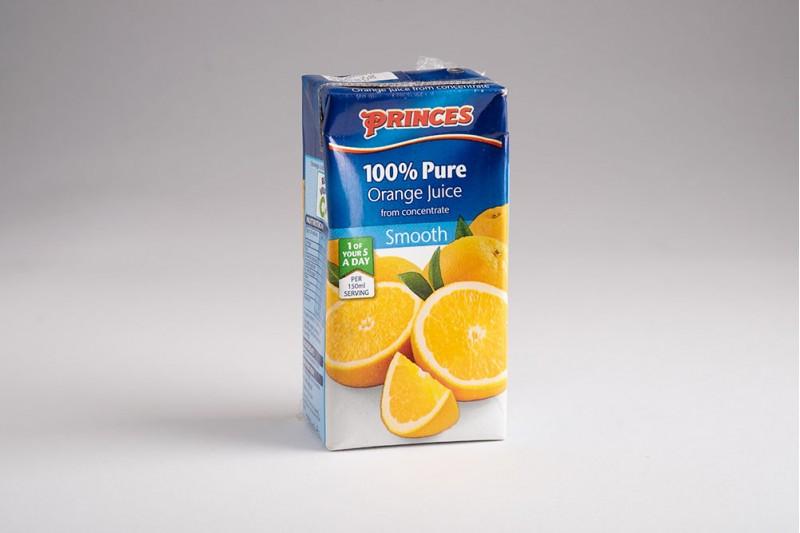 Princes 100% Pure Orange Juice 27x200ml