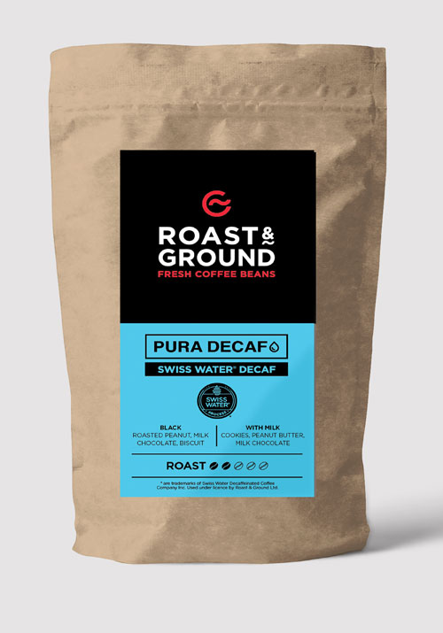 Pura Decaf Swiss Water Decaf Beans 12x250g