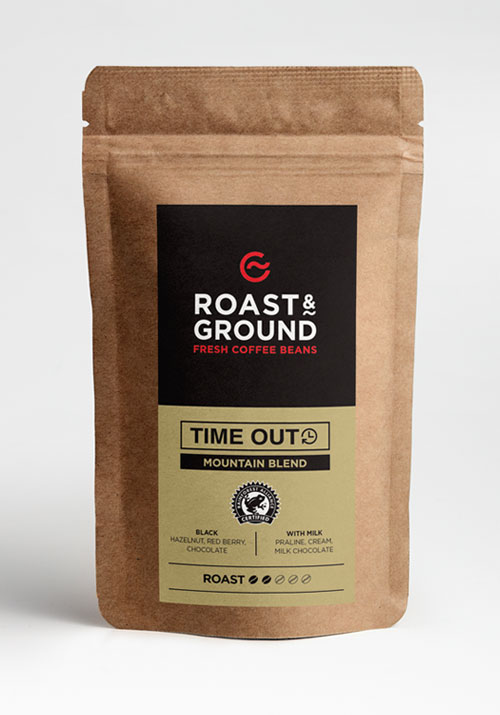 Time Out Rainforest Alliance Mountain Blend Beans 12x500g