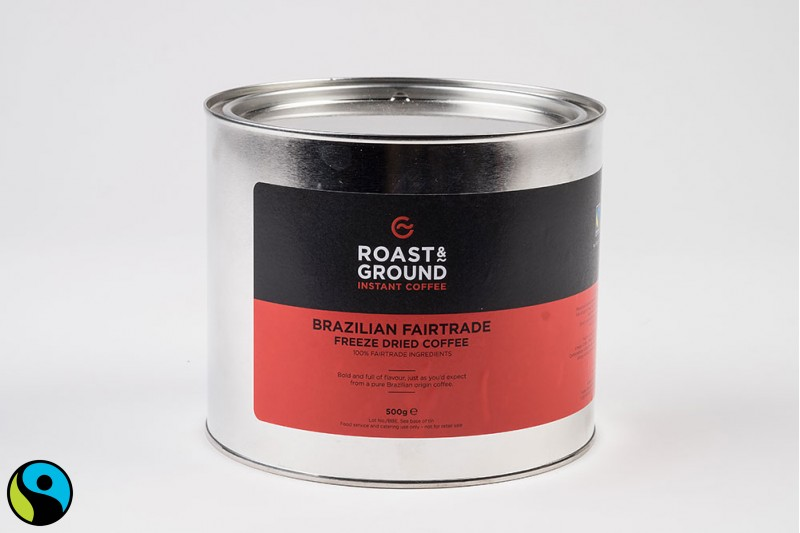 Brazil Fairtrade Instant Coffee Tin 1x500g