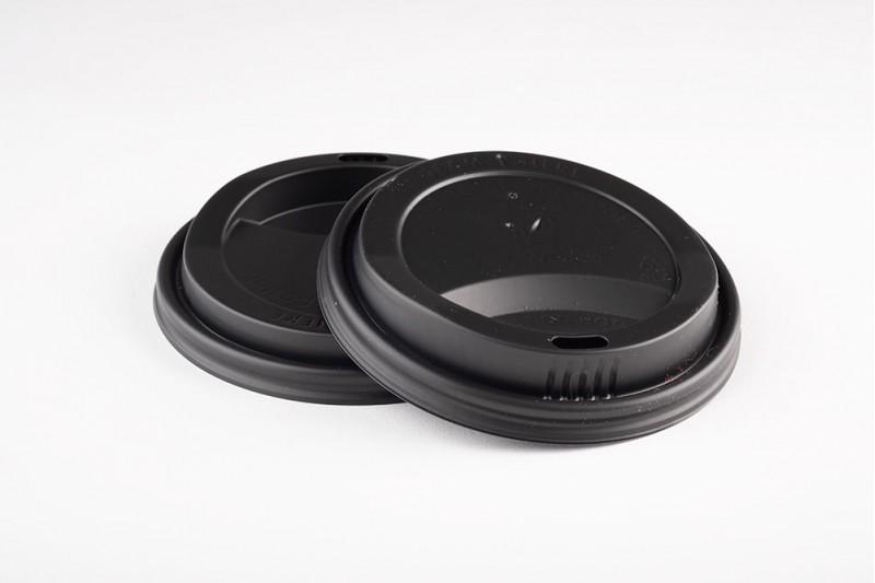 10-20oz Vegware CPLA Black Cup Lids 1x1000