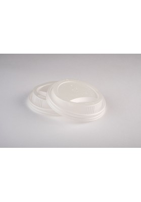 8oz Vegware CPLA White Cup Lids 1x1000