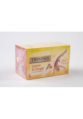 Twinings Lemon and Ginger Enveloped Tea Bags 1x20