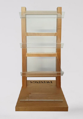 Twinings 4 Tier Display Stand Wooden